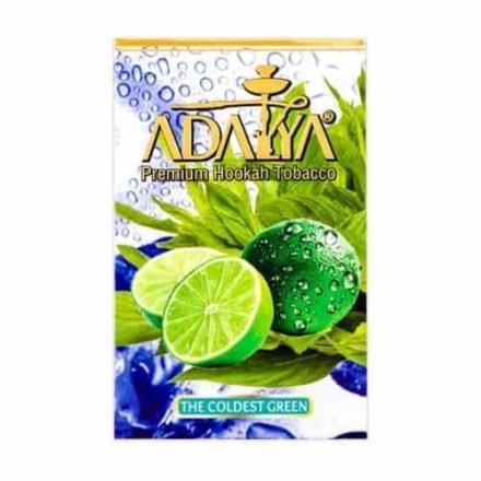 Табак Adalya The Coldest Green 50 грамм (лайм с зеленым яблоком и мятой)