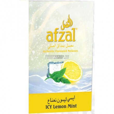 Табак Afzal Icy Lemon Mint 50 грамм (Ледяной Лимон и Мята)