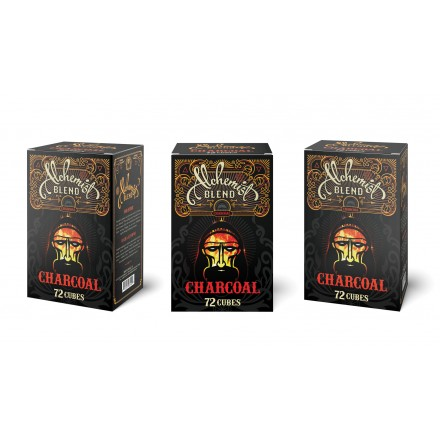 Уголь кокосовый Alchemist (72 кубика 25*25)