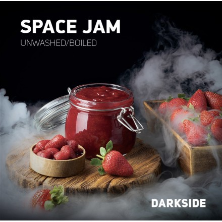 Табак Dark Side Medium Space Jam 100 грамм (клубничное варенье)