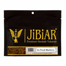 Табак Jibiar Ice Peach Blueberry 100 грамм (лёд персик черника)