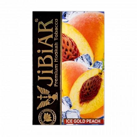 Табак Jibiar Ice Gold Peach 50 грамм (золотой персик лёд)