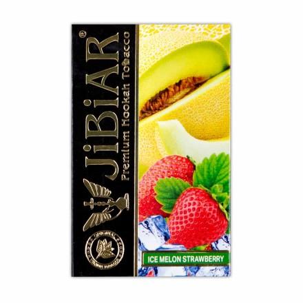 Табак Jibiar Ice Melon Strawberry 50 грамм (дыня клубника лёд)