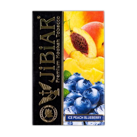 Табак Jibiar Ice Peach Blueberry 50 грамм (лёд персик черника)