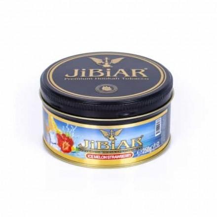 Табак Jibiar Ice Melon Strawberry 250 грамм (дыня клубника лёд)