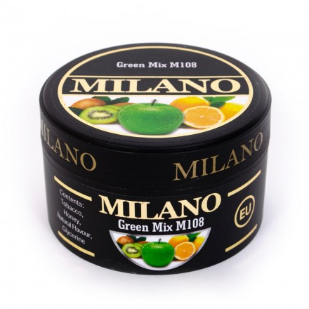Табак Milano Green Mix M108 50 грамм (киви яблоко лимон)