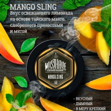 Табак Must Have Mаngо Sling 125 грамм (манго лимонад пряности мята)