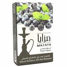 ТАБАК MAZAYA ЧЕРНИКА — МЯТА (blueberry with mint , 50 грамм)