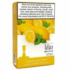ТАБАК MAZAYA ЛИМОН — МЯТА (lemon with mint 50 ГРАММ)