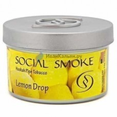 Табак Social Smoke ЛИМОННЫЕ ЛЕДЕНЦЫ (lemon drop 100 ГРАММ)