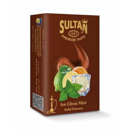 Табак Sultan Ice Citrus Mint 50 грамм (ледяной цитрус мята)